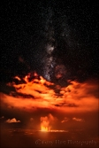 Gary Hart Photography: Night Fire, Milky Way Above Kilauea Caldera, Hawaii