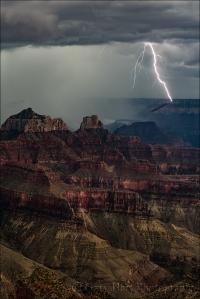 Gary Hart Photography: Lightning Shadow, Grand Canyon Lodge, North Rim