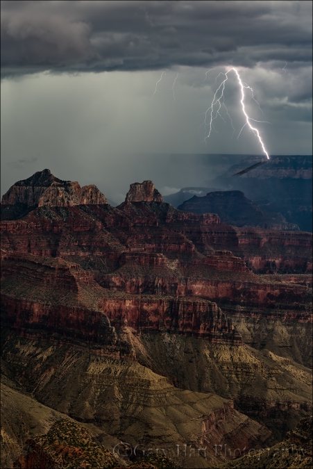 Gary Hart Photography: Lightning Shadow, Grand Canyon Lodge, North Rim