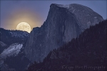 Gary Hart Photography: Winter Supermoon, Half Dome, Yosemite
