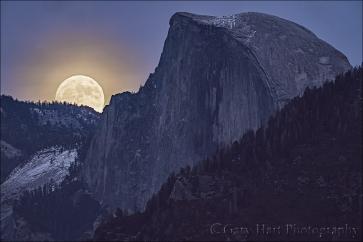 Gary Hart Photography: Winter Supermoon, Half Dome, Yosemite