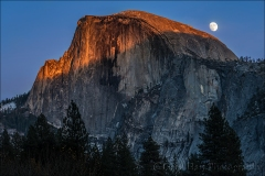 Gary Hart Photography: Sunset Moonrise, Half Dome, Yosemite