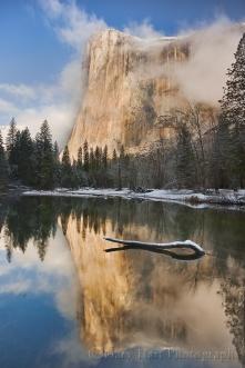 Gary Hart Photography: Winter Reflection, El Capitan, Yosemite