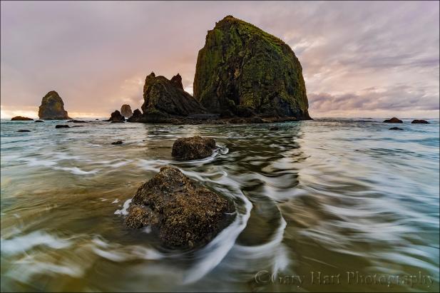Gary Hart Photography: Surf's Up, Haystack Rock, Cannon Beach, Oregon