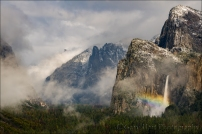Gary Hart Photography: Rainbow and Snowfall, Bridalveil Fall, Yosemite