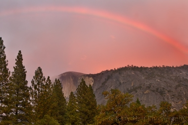 Red Rainbow, Half Dome, Yosemite