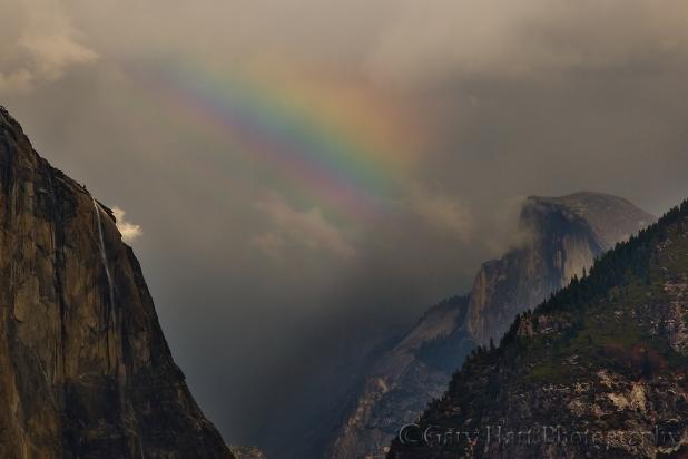 Gary Hart Photography: Half Dome Rainbow, Yosemite