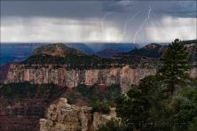Gary Hart Photography: Double Strike, Grand Canyon North Rim Lightning