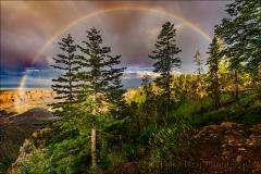 Gary Hart Photography: Heaven Sent, Monsoon Rainbow, Vista Encantada, Grand Canyon North Rim