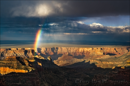 Nature's Prism, Rainbow Above Marble Canyon, Roosevelt Point, Grand Canyon