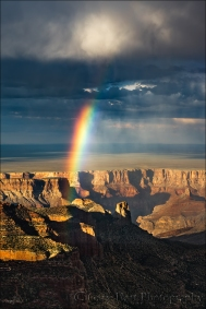 Gary Hart Photography: Touch the Sky, Roosevelt Point Rainbow, Grand Canyon