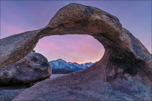 Gary Hart Photography: Framed Sunset, Mt. Whitney and Mobius Arch, Alabama Hills