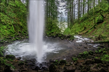 Gary Hart Photography: Looking Out, Upper Horsetail Fall, Columbia River Gorge