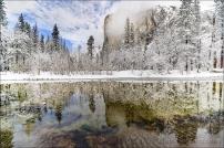 Gary Hart Photography: Clearing Storm Reflection, El Capitan, Yosemite