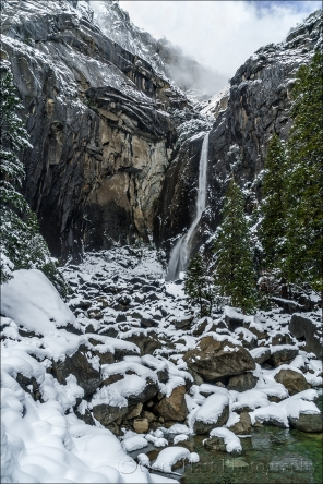 White Blanket, Lower Yosemite Fall, Yosemite