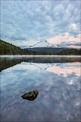 Gary Hart Photography: Dawn Reflection, Trillium Lake and Mt. Hood, Oregon