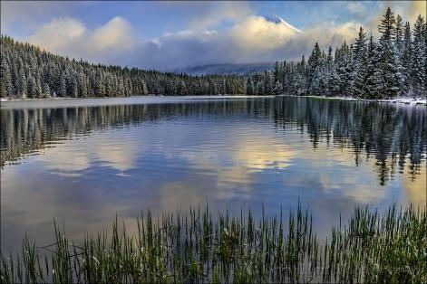 Clearing Storm, Trillium Lake and Mt. Hood, Oregon