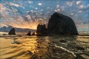 Gary Hart Photography: Sunstar, Haystack Rock, Cannon Beach, Oregon