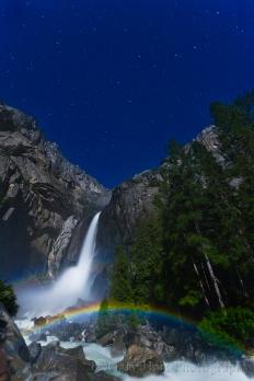 Gary Hart Photography: Moonbow and Big Dipper, Lower Yosemite Fall, Yosemite