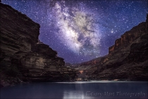 Gary Hart Photography: Grand Night, Milky Way Above the Colorado River, Grand Canyon