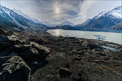 Gary Hart Photography: Winter Sun, Lake Tasman, New Zealand