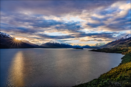 Gary Hart Photography: Sunstar, Lake Wakatipu, New Zealand