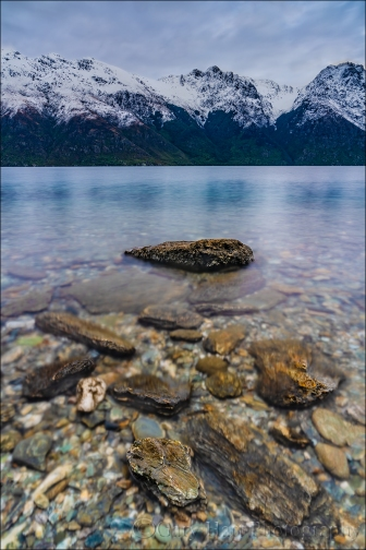 Gary Hart Photography: Dawn on the Rocks, Lake Wakatipu, New Zealand