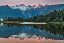 Gary Hart Photography: Sunset Reflection, Lake Matheson, New Zealand