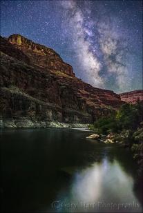 Gary Hart Photography: Milky Way Reflection, Colorado River, Grand Canyon