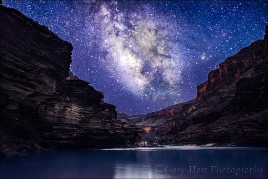 Gary Hart Photography: Grand Night, Milky Way Above the Colorado River, Grand Canyon