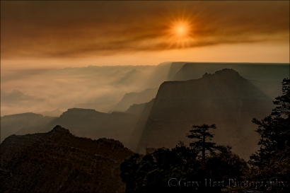 Gary Hart Photography: Where There's Smoke..., Grandview Point, Grand Canyon