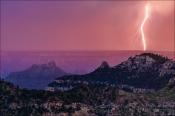 Gary Hart Photography: Sunset Lightning, Grand Canyon