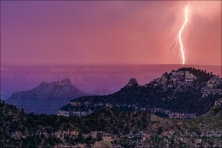Gary Hart Photography: Sunset Lightning, Grand Canyon