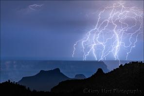 Gary Hart Photography: Lightning Web, Grand Canyon