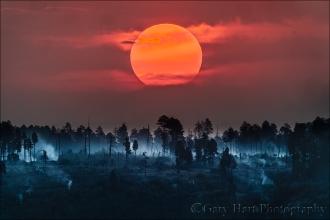 Gary Hart Photography: Sun and Smoke, Bright Angel Point, Grand Canyon