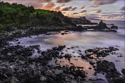 Gary Hart Photography: West Maui Tide Pool Sunset, Hawaii
