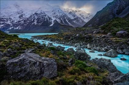 Gary Hart Photography: Glacial Flow, Tasman River, New Zealand