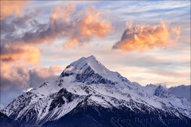 Gary Hart Photography: Sunrise, Mt. Cook, New Zealand