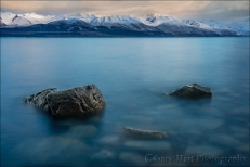 Gary Hart Photography: Dawn on the Rocks, Lake Pukaki, New Zealand