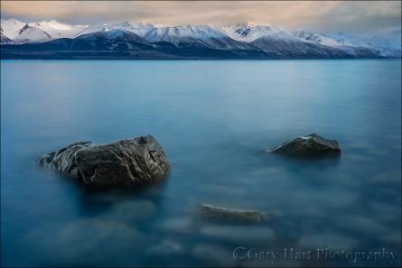 Gary Hart Photography: Dawn on the Rocks, Lake Pukaki, New Zealand