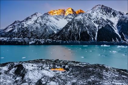 Gary Hart Photography: Last Light, Tasman Lake, New Zealand