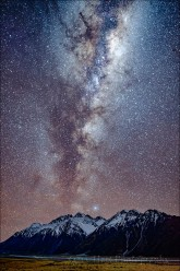 Gary Hart Photography: Milky Way, Nun's Veil and Tasman River, Mt. Cook / Aoraki National Park, New Zealand