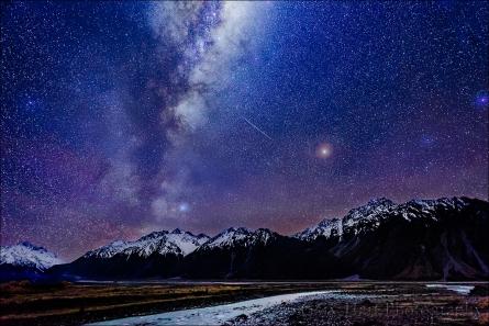 Gary Hart Photography: Milky Way and Hooker River, Aoraki / Mt. Cook National Park, New Zealand