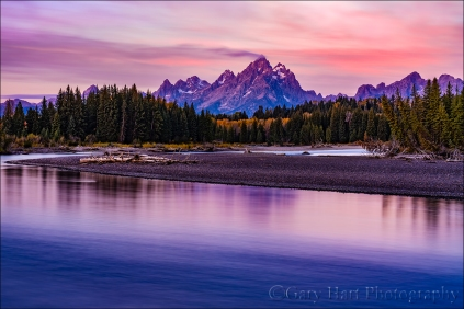 Gary Hart Photography: Teton Dawn, Snake River, Grand Tetons NP