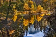 Gary Hart Photography: Half Dome Autumn Reflection, Sentinel Bridge, Yosemite