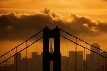 Gary Hart Photography: Golden Morning, Golden Gate Bridge and San Francisco, Marin Headlands