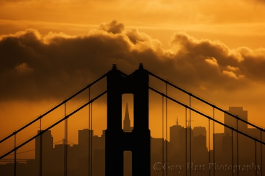 Gary Hart Photography: Golden Morning, Golden Gate Bridge and San Francisco, Marin Headlands