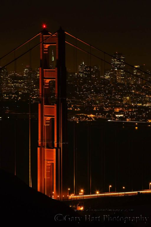 Gary Hart Photography: After Dark, San Francisco and the Golden Gate Bridge, Marin Headlands