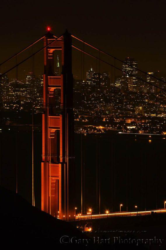 Gary Hart Photography: After Dark, San Francisco and the Golden Gate Bridge, Marin Headlands