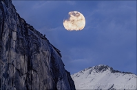 Gary Hart Photography: Moonrise, El Capitan and Cloud's Rest, Yosemite
